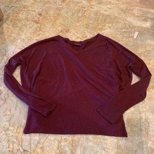 Brandy Melville v-neck maroon sweater